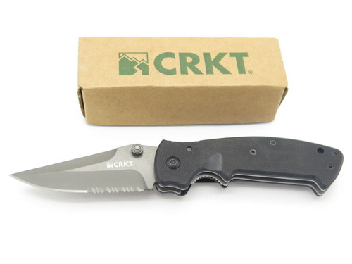 Columbia River CRKT 6782G 6782 Crawford Kasper Folding Pocket Knife Black G10