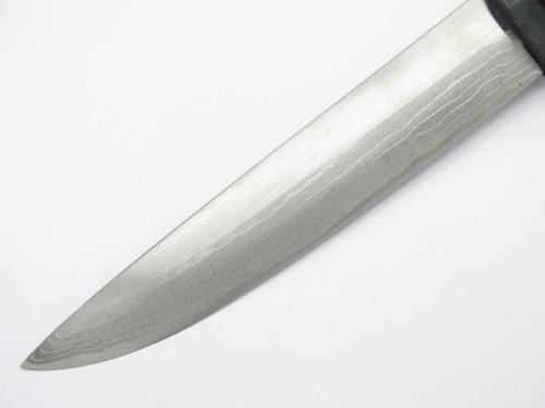 Takeshi Saji Snakeskin Japan Handmade Custom White Steel Damascus Fixed Knife