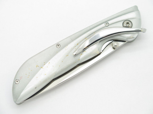 Mcusta Prototype Gold Flake Aluminim Handle & VG-10 Blade Folding Pocket Knife