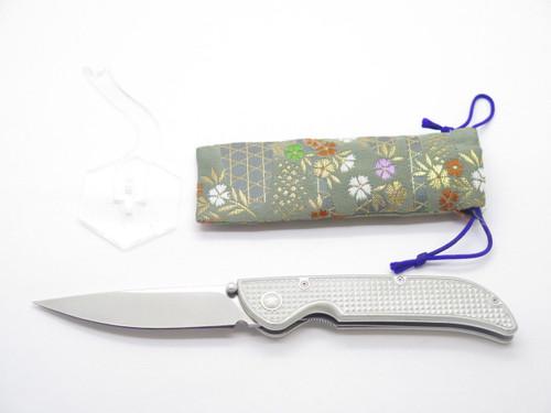 Mcusta Prototype Checkered Aluminim Handle & VG-10 Blade Folding Pocket Knife