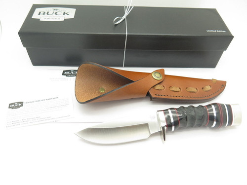 Buck 192 Vanguard BG-42 Custom Shop Buffalo Horn Fixed Blade Hunting Knife
