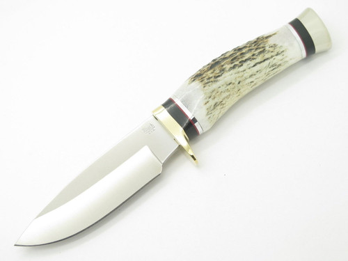 BUCK 192 VANGUARD BG-42 CUSTOM SHOP ELK STAG FIXED BLADE HUNTING KNIFE