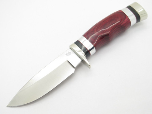 Buck 192 Vanguard BG-42 Custom Shop Cherry Wood Fixed Blade Hunting Knife