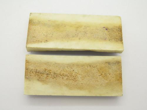Vintage 3 x 1.25 India Sambar Stag Scale Slab Knife Making Handle Grip Blank