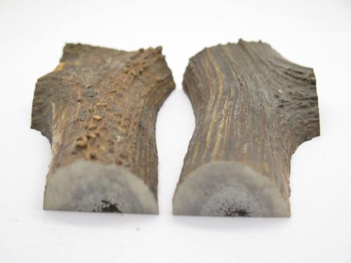 USA 6 x 2.3 Elk Stag Antler Scale Slab Knife Making Handle Grip Blank Pair