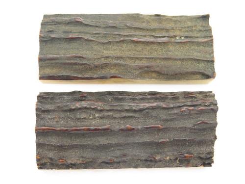 Vintage 3 x 1.25 India Sambar Stag Scale Slab Knife Making Handle Tool Grip Blank