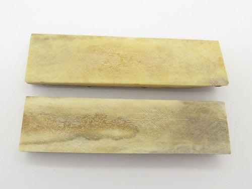 Vintage 4.6 x 1.3 India Sambar Stag Scale Slab Knife Making Handle Grip Blank