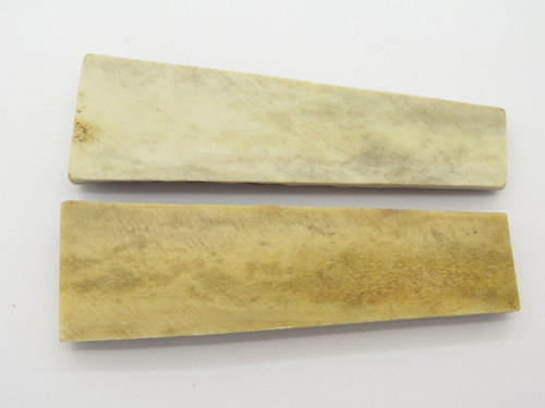 Vintage 4.125 x 1.25 India Sambar Stag Scale Slab Knife Making Handle Grip Blank