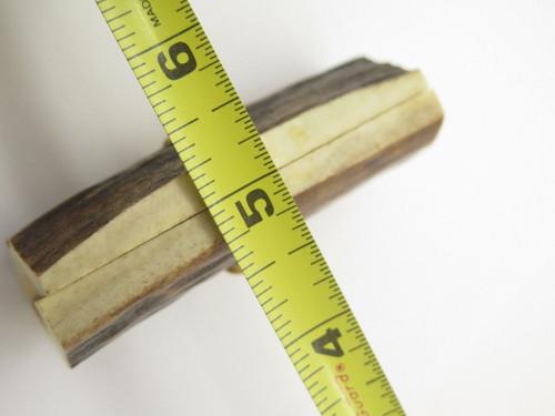 Vtg 3 x 1.25 India Sambar Stag Scale Slab Knife Making Handle Grip Blank