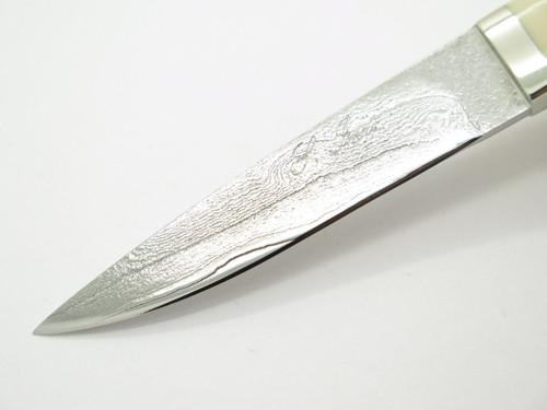 Seizo Imai Seki Custom Loveless Caper Stag & VG-10 Damascus Fixed Knife