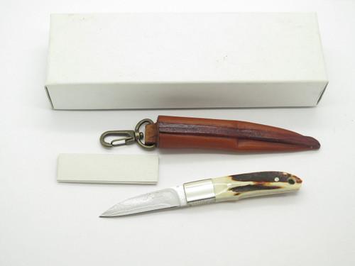 Seizo Imai Seki Custom Loveless City Knife Stag Fixed VG-10 Damascus Hunter