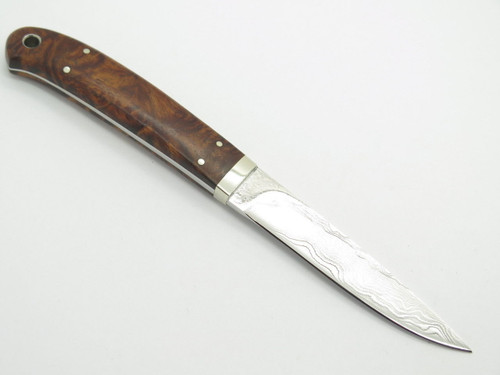 Seizo Imai Seki Custom Loveless Med. Caper Wood VG-10 Damascus Fixed Knife