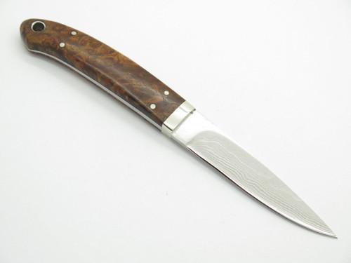 Seizo Imai Seki Custom Loveless Caper Wood & VG-10 Damascus Fixed Knife