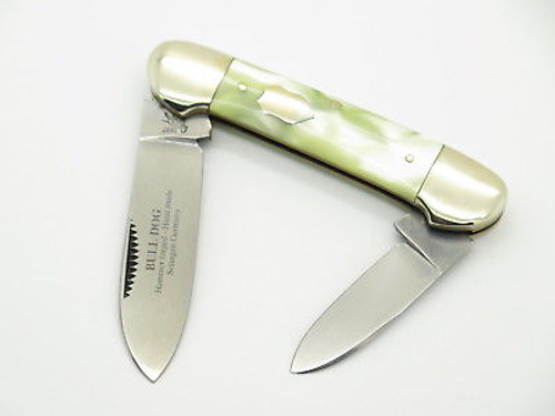 VINTAGE 1997 BULLDOG BRAND SOLINGEN PEARL SWIRL CANOE FOLDING POCKET KNIFE