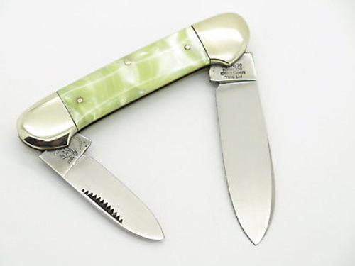 VTG 1997 BULLDOG BRAND SOLINGEN PEARL SWIRL CANOE FOLDING POCKET KNIFE