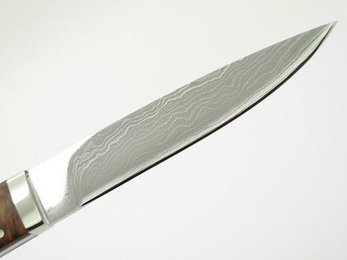 Seizo Imai Seki Custom Loveless Med. Caper Wood Handle VG-10 Damascus Fixed Knife