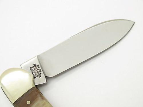 Vtg 1997 Bulldog Brand Solingen Brown Handle Canoe Folding Pocket Knife