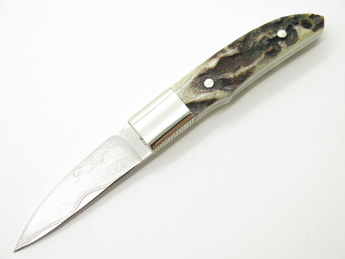 SEIZO IMAI CUSTOM LOVELESS CITY KNIFE STAG SMALL FIXED VG-10 DAMASCUS SEKI JAPAN