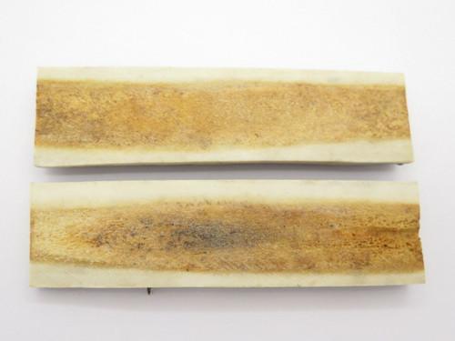 Vintage 4.8 x 1.25 India Sambar Stag Scale Slab Knife Making Handle Grip Blank
