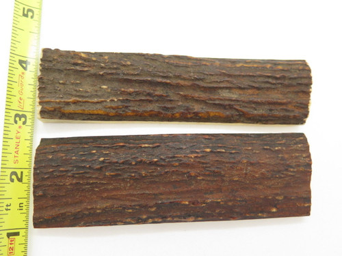 Vintage 4.8 x 1.3 India Sambar Stag Scale Slab Knife Making Handle Grip Craft Blank