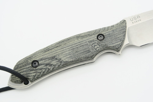 The Attleboro USA CMPS35VN Stonewash Straight Fixed Blade Tactical Hunting Knife