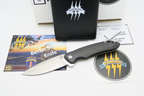ATTLEBORO USA BERLIN STRIKE D2 BLADE TITANIUM FRAMELOCK FOLDING POCKET KNIFE