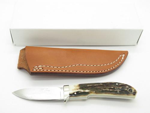 Seizo Imai Seki Custom Loveless Skinner Stag VG-10 Damascus Fixed Knife