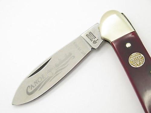 Vtg United Boker Solingen 135 Smooth Red Bone Canoe Folding Pocket Knife