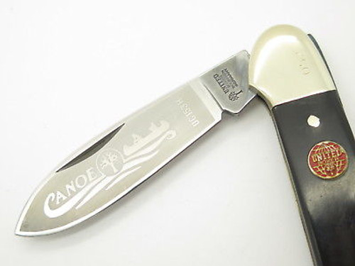 Vtg United Boker Solingen 135 Buffalo Horn Canoe Folding Pocket Knife