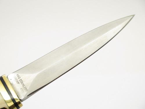 Vtg Valor Miami USA 436 Stag & Stainless Fixed Dagger Boot Knife Seki Japan NOS