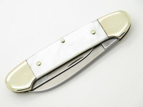 Vtg United Boker Solingen 135 Pearl Swirl Canoe Folding Pocket Knife