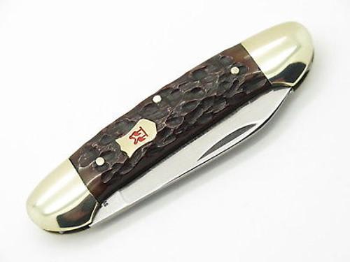 Vtg 1975 Robt Klaas Kissing Crane 2629 Solingen Bone Canoe Folding Knife