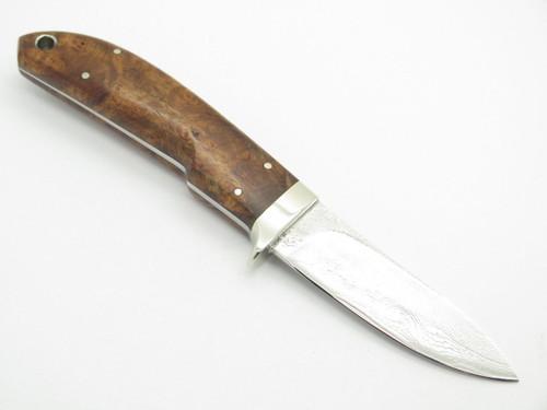 Seizo Imai Seki Custom Loveless Skinner Wood VG-10 Damascus Fixed Knife