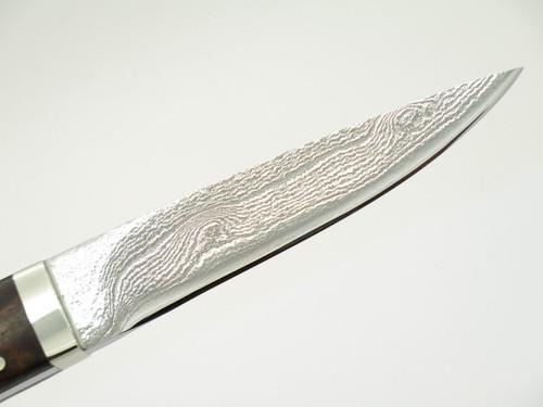 Seizo Imai Seki Custom Loveless Caper Burlwood & VG-10 Damascus Fixed Knife