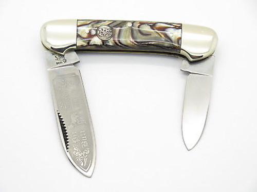 VINTAGE 1996 BULLDOG BRAND SOLINGEN SWIRL CANOE FOLDING POCKET KNIFE