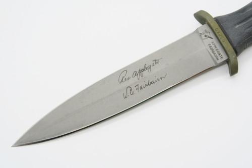 Serial No. 00005 Vtg Blackjack Usa Applegate Fairbairn Fixed Blade Dagger Knife