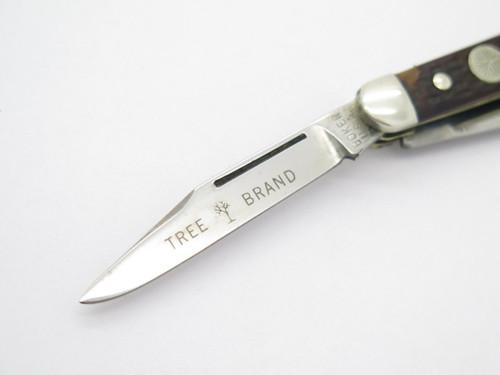 Vtg 1970s Boker USA Tree Brand 8388 3 Blade Stockman Folding Pocket Knife