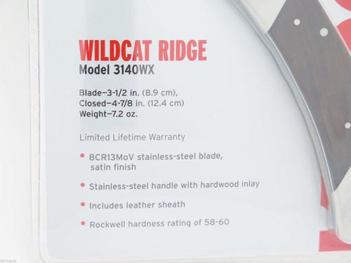 Kershaw 3140WX 3140 Wildcat Ridge Large Folding Hunter Knife & Sheath Buck 110
