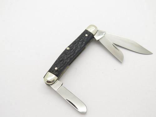 Vtg 1970s Boker Tree Brand 7588 3 Blade Stockman Folding Pocket Knife
