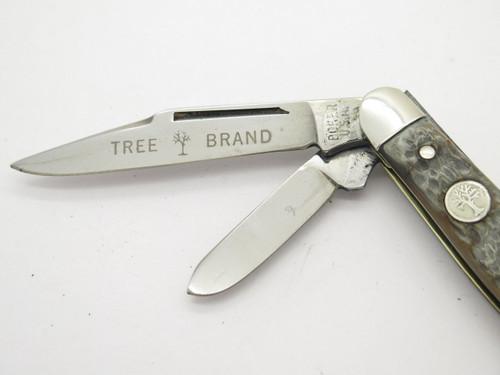 Vtg 1970s Boker USA Tree Brand 8585 3 Blade Stockman Folding Pocket Knife