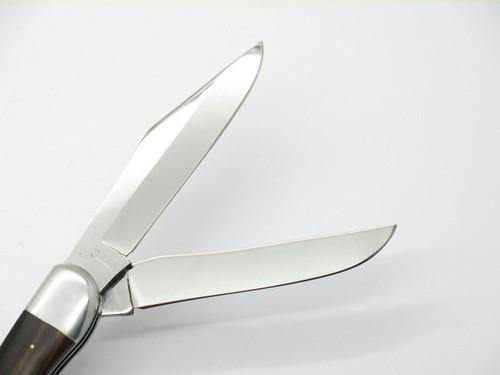 Vtg 1970s Seizo Imai Seki Japan Gesco Rhino 39 Ebony Folding Hunter Knife