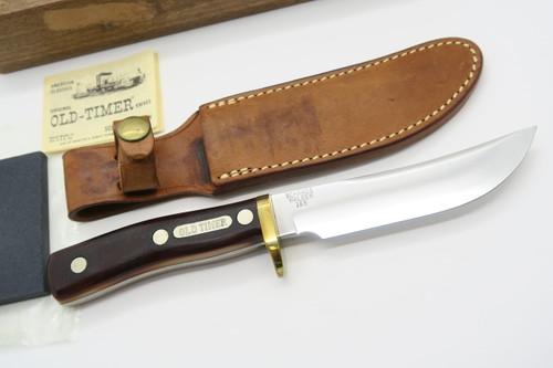 Vtg 1946-73 Schrade Walden 165 Woodsman Old Timer Fixed Blade Hunting Knife +box