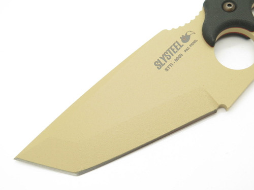 Slysteel Tops STTI Shark Tooth Fixed Tanto Blade Hunter Survival Knife Low #0009