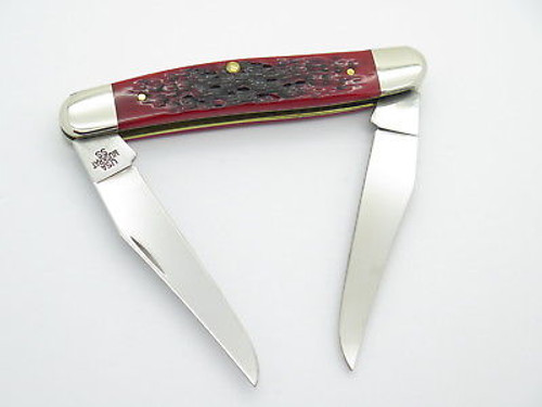2014 Case XX Muskrat Folding Pocket Knife Limited Pearl MOP Red Bone