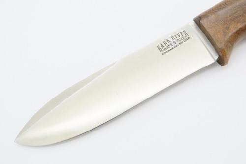 Bark River Knife & Tool USA Prototype Custom Fixed Blade Hunting Knife *left