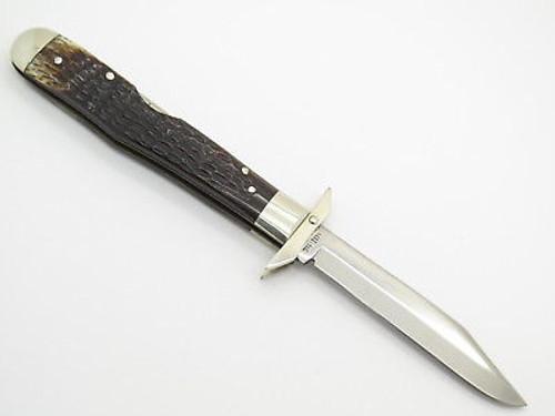 Vtg 1978 Case XX 6111 1/2 Bone Cheetah Swing Guard Folding Pocket Knife