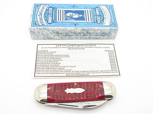 Case Classic XX 62050 Sunfish Elephant Toenail Knife Special Etch 1 of 9