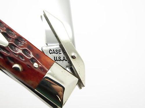 Vtg 1965-1969 Case XX 61011 1/2 Cheetah Folding Swing Guard Knife Red Bone