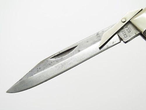 Vintage 1977 Case XX 6111 1/2 Bone Cheetah Swing Guard Folding Pocket Knife