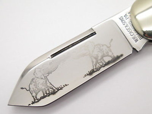 Case Classic XX 72050 Sunfish Elephant Toenail Knife Low Run Exotic Etch